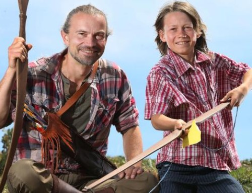 Geelong craftsman Lars Richter uses longbow craft workshop to promote wellbeing
